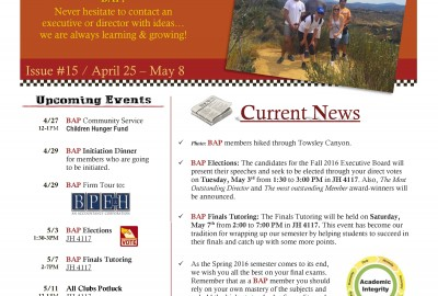 BAP Newsletter Issue 15